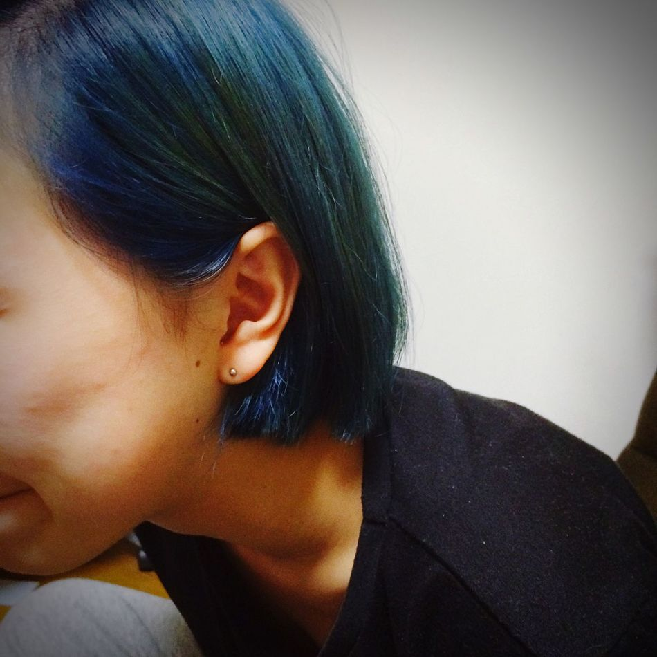 Blue Hairstyle Bobhaircut Cute