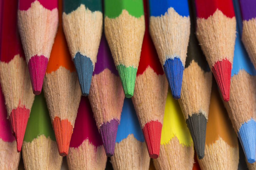Colored pencils of various colors, close up Colors Crayons Creativity Paint Pencils Preschool Set Spectrum Wood Abstract Backgrounds Colorful Different Draw Drawing Heap Many Multi Coloured Palette Pastel Pattern School Sharp Variation Wooden