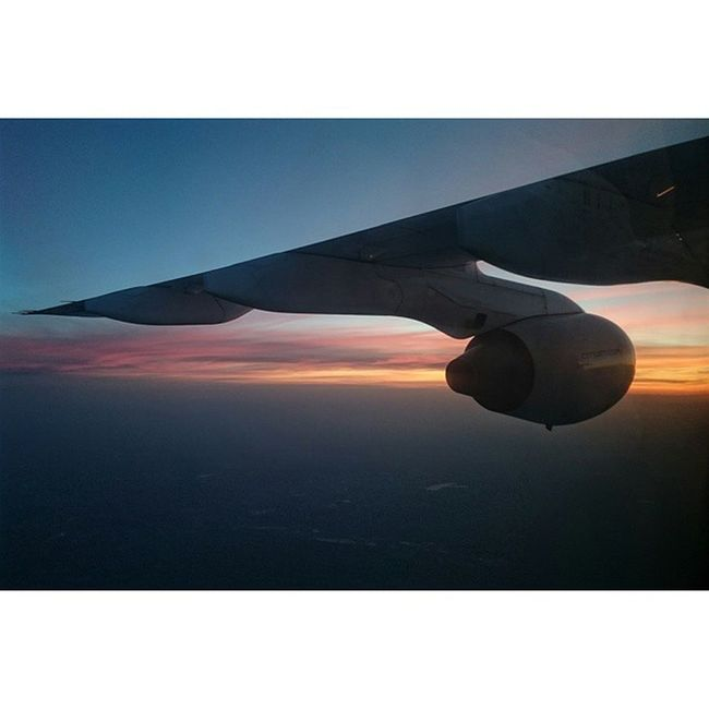 The beauty of the sunset. Priceless when on a plane. Cityjet WX223 RJ85 Londoncity sunset