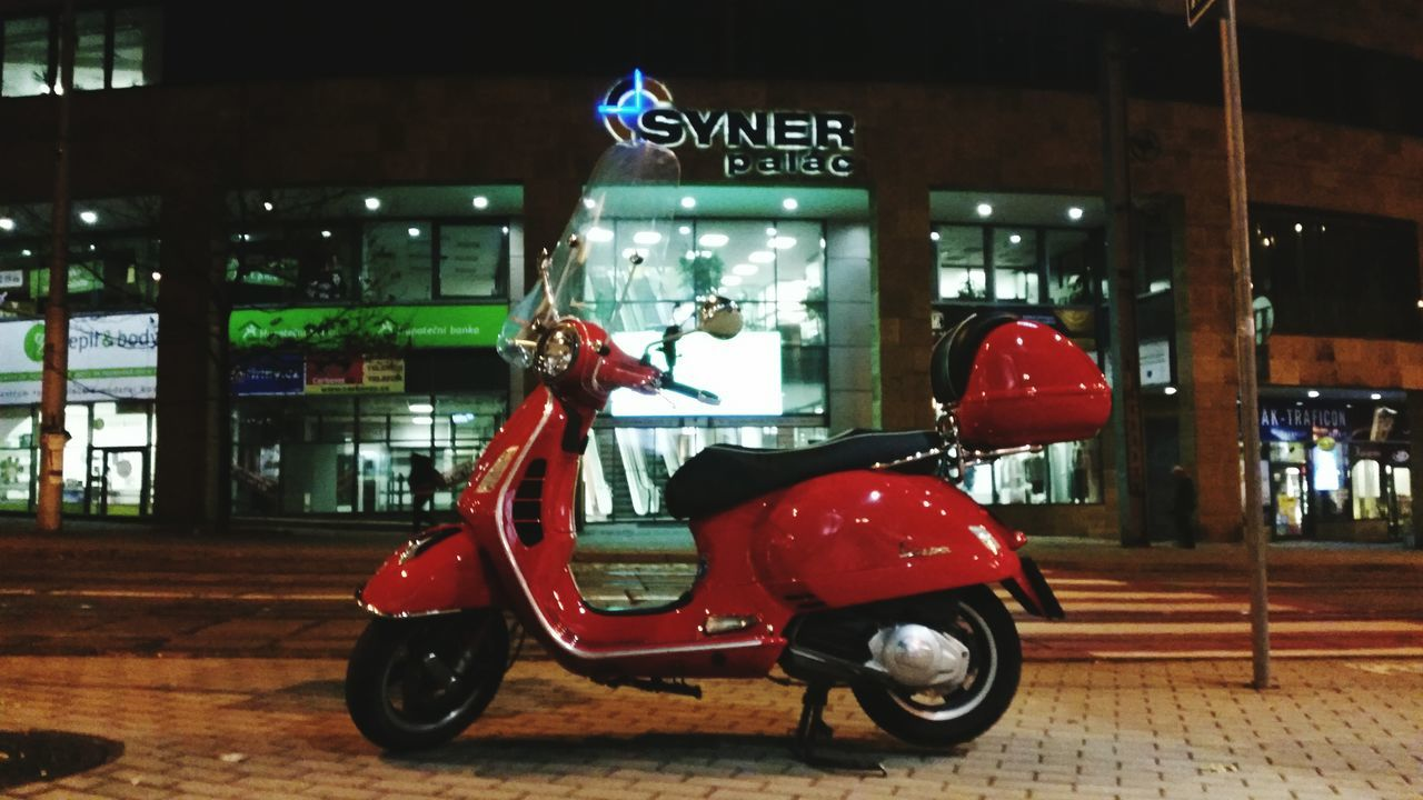 Liberec-Vespa at night urban street. Vespa Liberec Nightphotography Skuter Motorcycles First Eyeem Photo