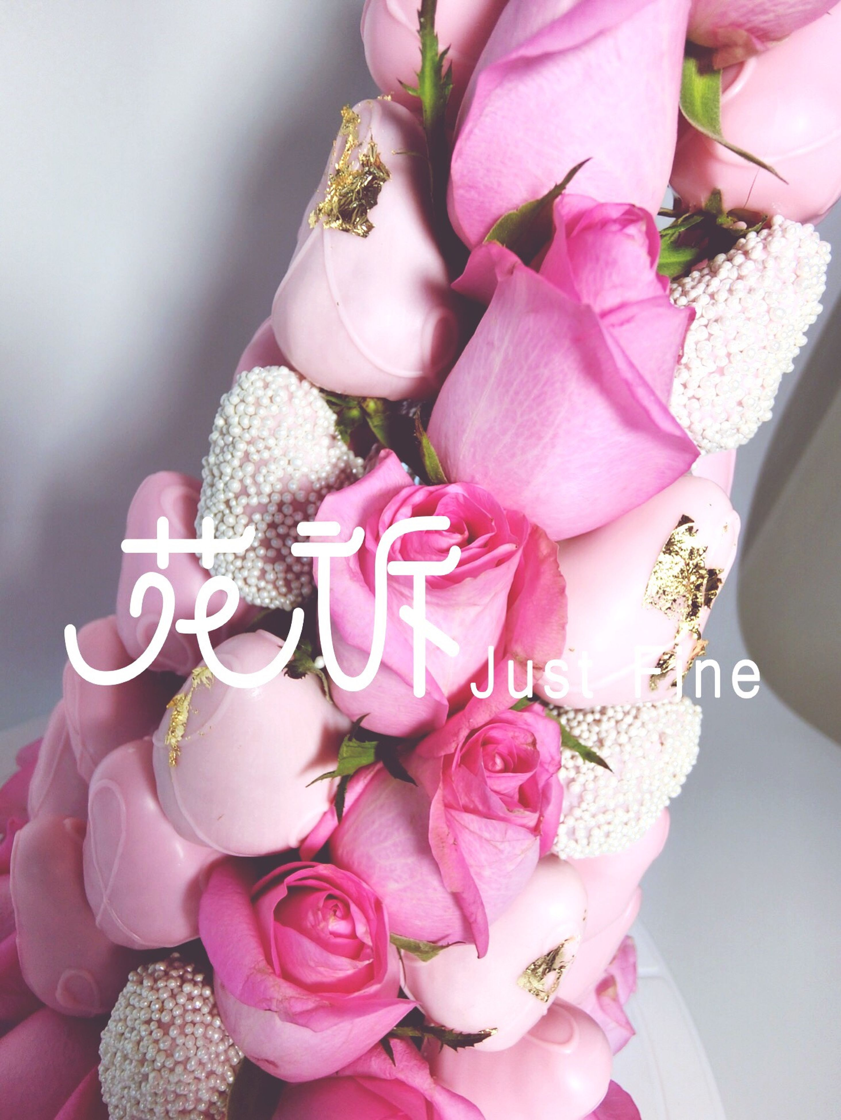 flower, pink color, flower head, ribbon - sewing item, fragility, bouquet, gift, freshness, no people, close-up, indoors, flower arrangement, day