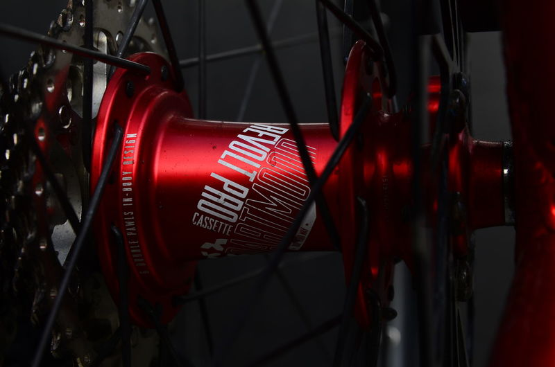Bicycle Brand Color Red Dartmoor Dirty Hub Metal Red