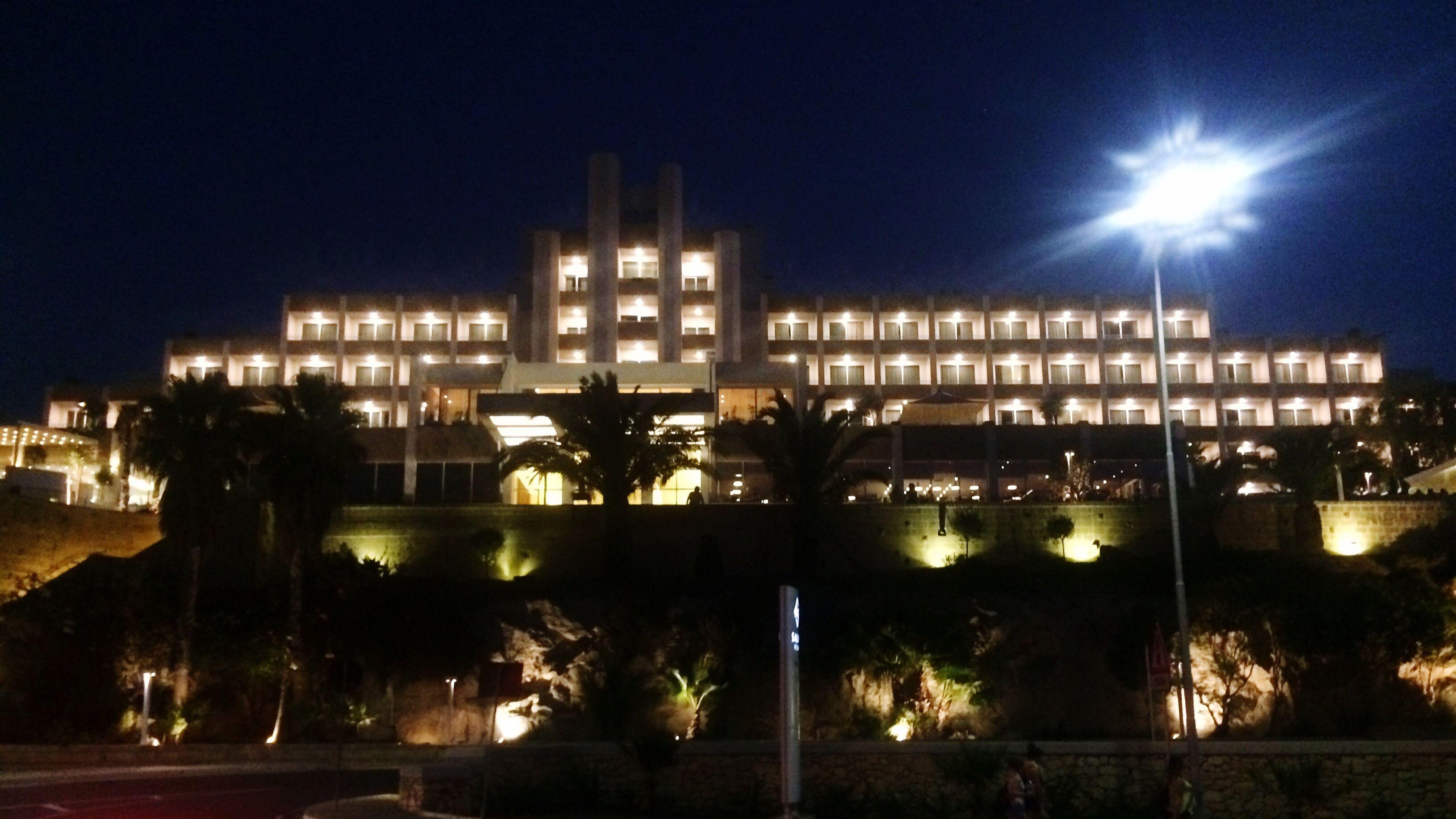 Night Architecture Road Outdoors Coast Hotel Holiday Salini Resort Malta Paceville