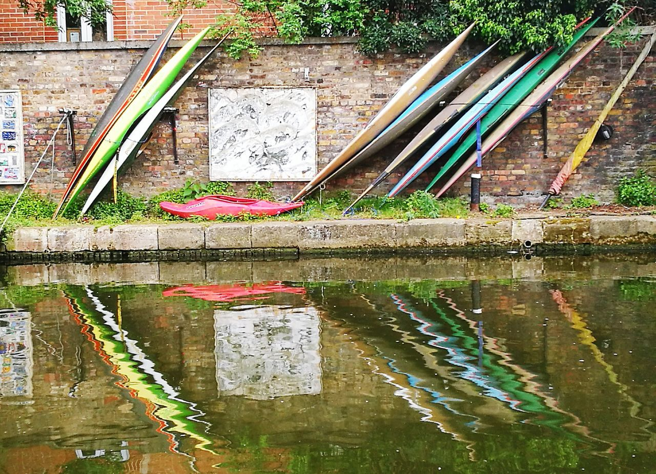 Canoes Water Outdoors No People Architecture Building Exterior Day Built Structure Canals And Waterways