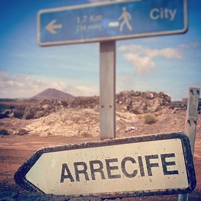 auf dem weg nach arrecife. Arrecife Lanzarote Dessertwalk Canaries2015