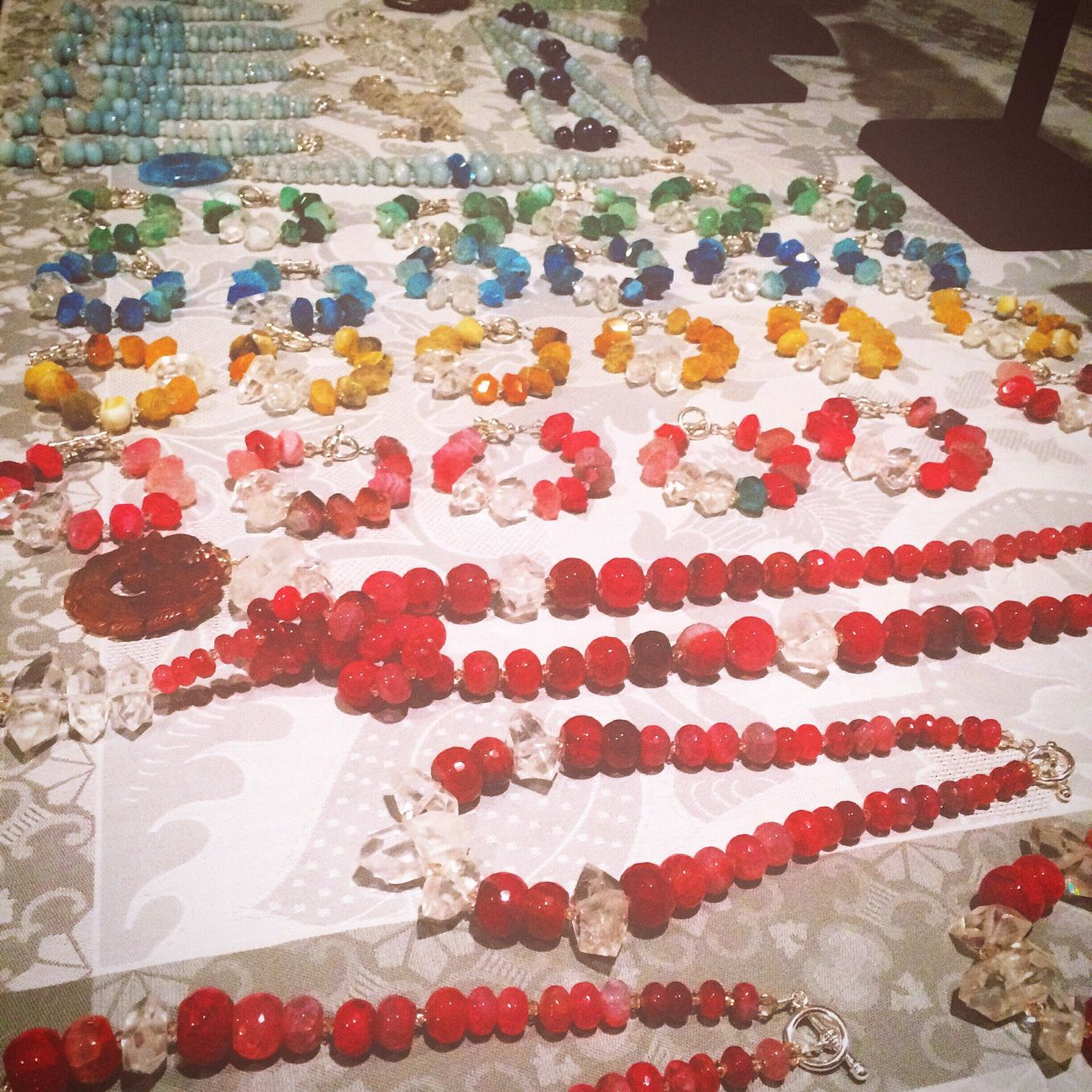 Jewelry Multi Colored Palette Large Group Of Objects Gems Gemstones Rainbow Semipreciousstones Semi Precious Stones Crystals Art And Craft Necklace Bracelet Shop Display Indoors  Variation No People