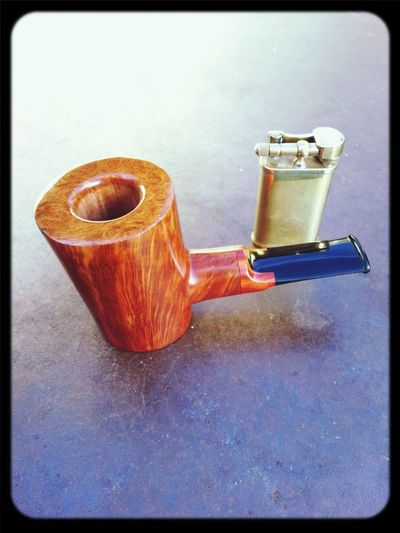 The Aloua Poker. Hand cut Aloua/Ebonite Stem. Handmade in Switzerland by Ygrek Pipes Pipe Smoking Ygrek Pipes Pipesmoking Tobacco Pipe