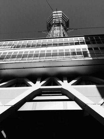 大阪 通天閣 モノクロ Enjoying Life