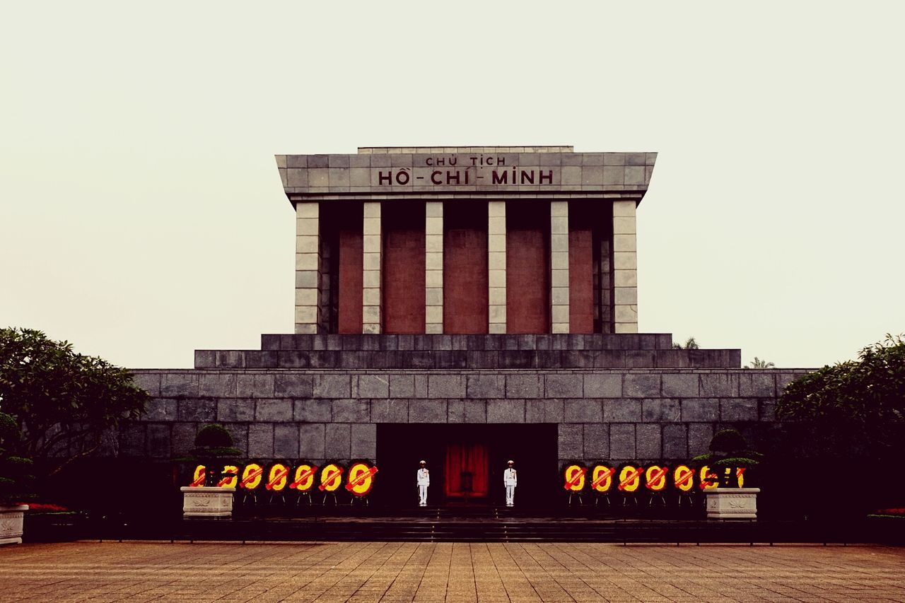 Memorial Mausoleum VietnamArchitecture Ho Chi Minh Day Sky Soldier Flowers Urban Politics And Government Tree City No People Outdoors