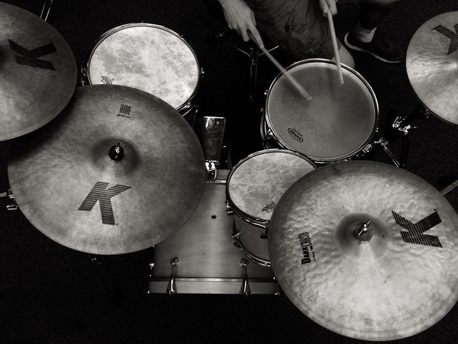 drums. Drums Close-up Arrangement Drumsticks Drummer