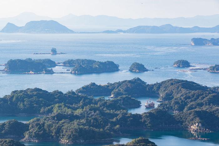 Blue Sky Day Harbor Islands National Park Outdoors Sea Ship