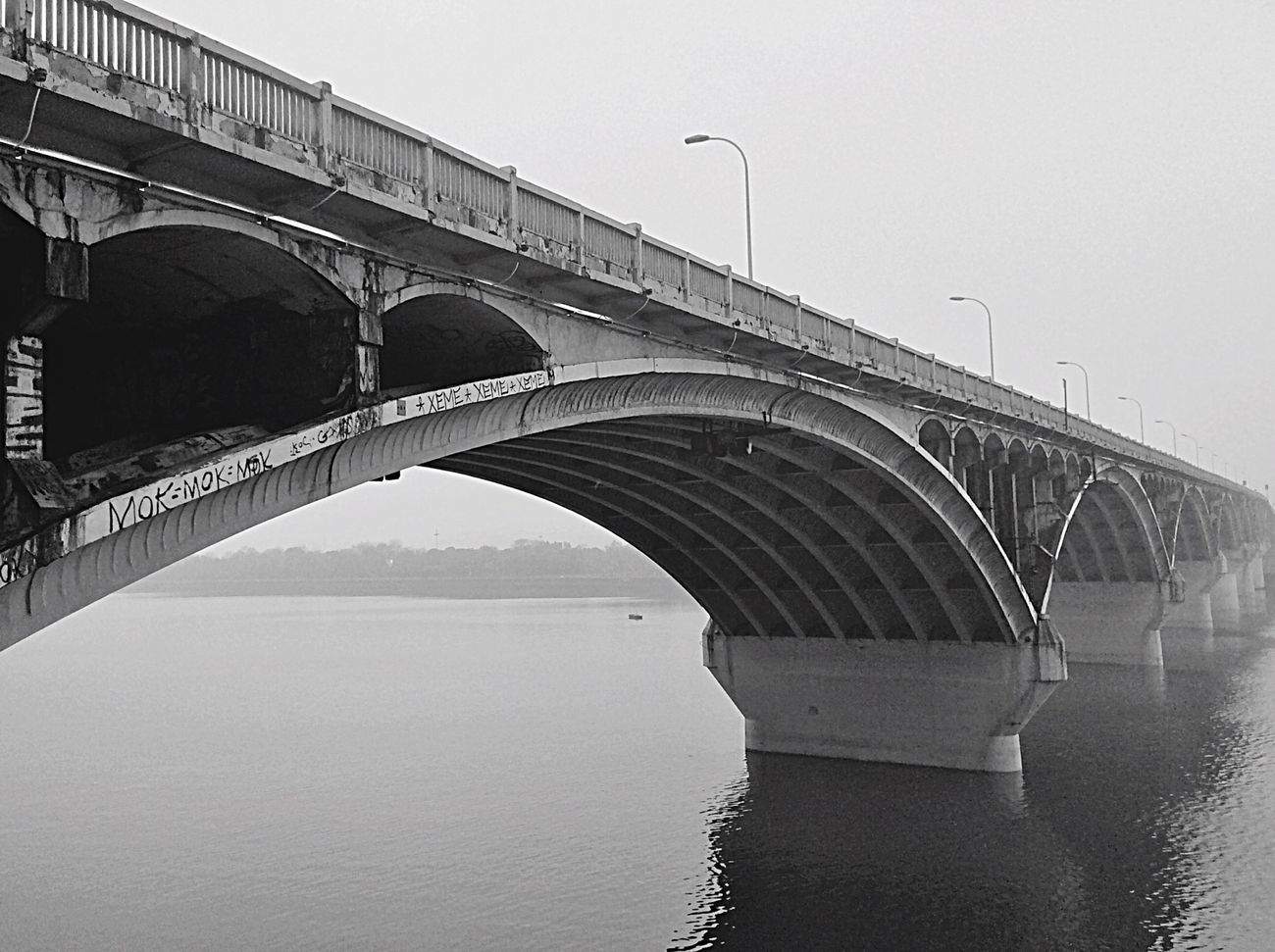 Changsha River Bridge Peace And Quiet Stopping Time Blackandwhite EyeEm Gallery Water Reflections EyeEm Best Edits
