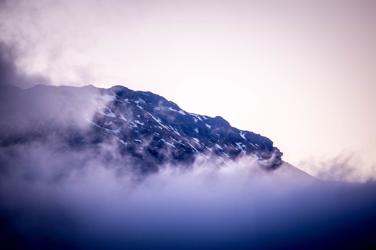 Beauty In Nature Cloud - Sky Day Fog Foggy Geology Idyllic Landscape Majestic Mountain Mountain Range Nature No People Non-urban Scene Outdoors Physical Geography Remote Scenics Scotland Season  Sky Snowcapped Mountain Tranquil Scene Tranquility Weather