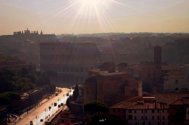 Sunset at Rome Architecture Lens Flare Sun Sunlight City Followme Taking Photos Nature_collection EyeEm Best Shots 2016 EyeEm Awards Eye4photography  Landscape Beauty In Nature Enjoying The View Sunset_collection Sunset Silhouettes Landscape_Collection Landscape_photography