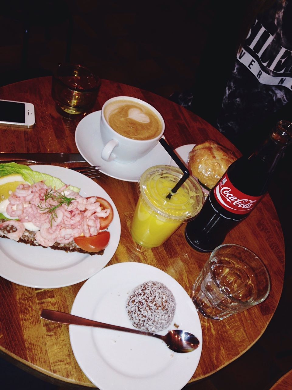 food and drink, table, plate, food, freshness, drinking glass, refreshment, drink, healthy eating, indoors, serving size, bottle, bowl, fork, no people, ready-to-eat, day, close-up