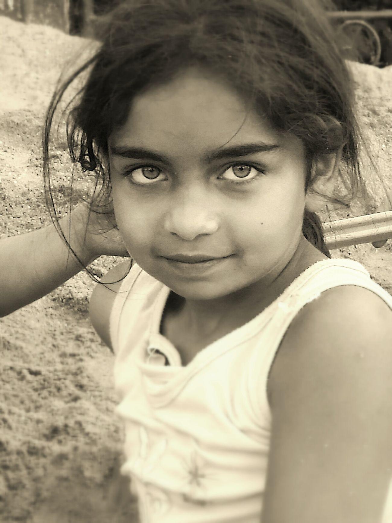 Eyes Child Girl Sepia