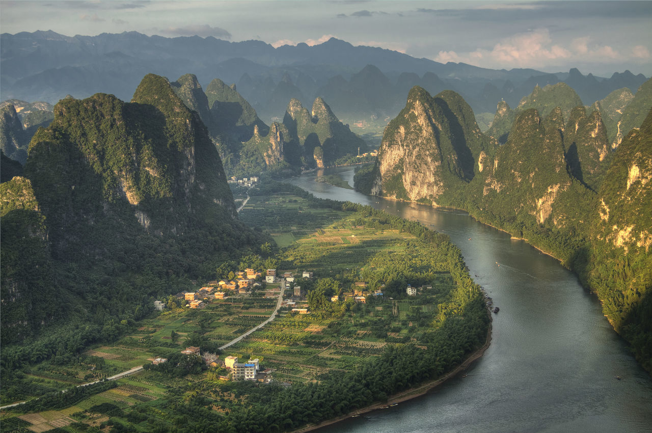 xianggonshan or xianggong mountain located at the li river,guangxi province china Adventure Beauty Explore Karst Landscape Li River Lijiang_yangshuo_china Limestone Mountain Nature Outdoors Shan Travel Travel View Village Water Xianggong Xingping Yangshuo