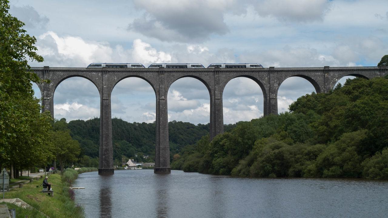 Aulne Maritime Bridge Brücke Eisenbahnbrüc Pont Port-Launay Railway Bridge Viaduc  Viadukt