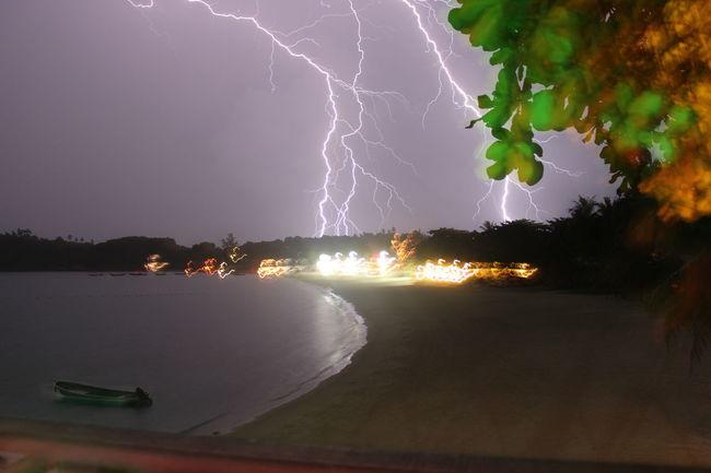 Thailand My Best Foto Wallpaper Lighting Storm Full Moon Party Beach Kho Phangan
