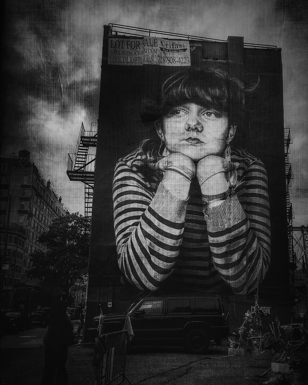 Lost Time,mural of Steven Paul's winning photo in Williamsburg, Brooklyn Monochrome Photography IPhoneography Youmobile AMPt_community Shootermag EyeEm Gallery The Week On Eyem The Week Of Eyeem Everybodystreet Streetphotography Street Blackandwhite Monochrome Eye4photography  IMography Williamsburg