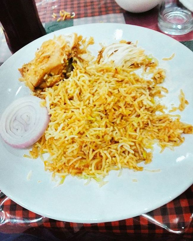 Happiness is lunch with bae 😊😋 Hyderabad_ Chickenbiriyani Hot Food Foodporn Yumm Yummy Lunch Tasty Delish Delicious Eat Hungry Foodstagram Foodlover Foodies Likes Follow4follow Likes4likes Like4like Photooftheday Igers Igersoftheday Foodpic Foodgasm happy filtered instafood instapic instalike
