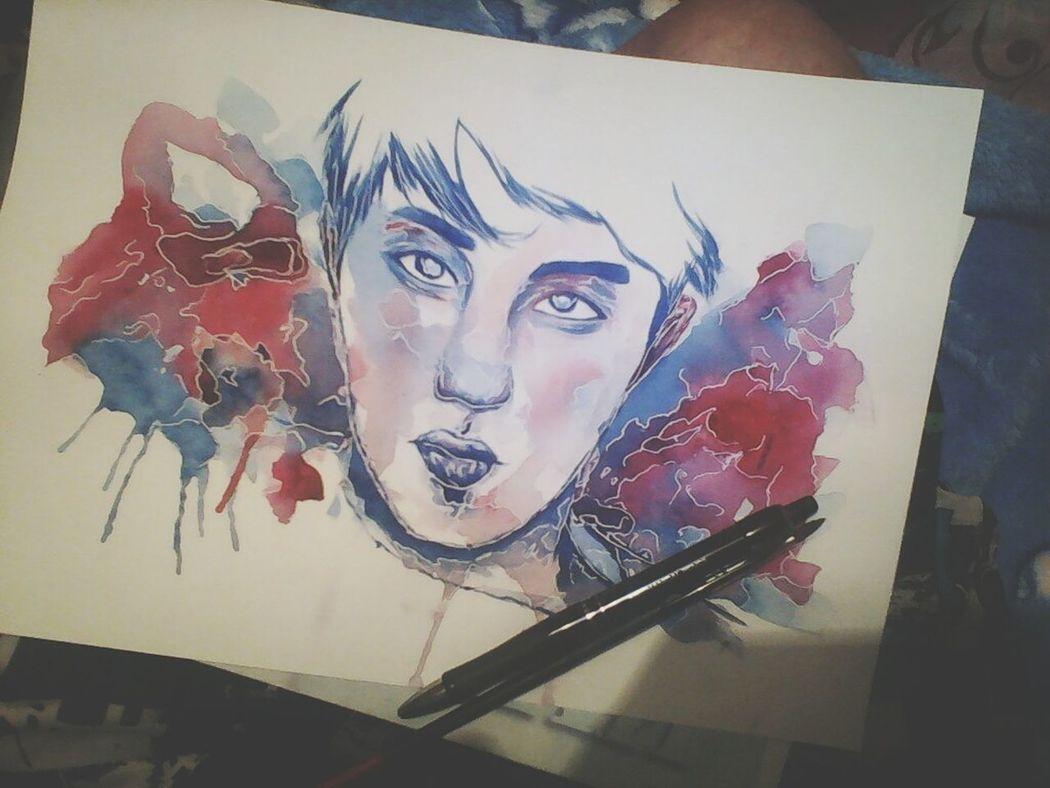 Art Watercolor Drawing Exo_k