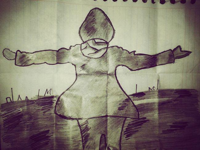 su primer dibujo q mi artista!!