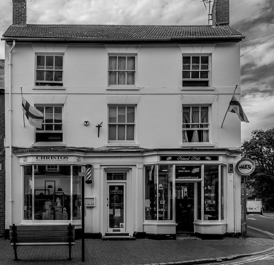 Christos, High Street, Newport Pagnell, Buckinghamshire Newport Pagnell Monochrome Black And White High Street Buckinghamshire Architecture