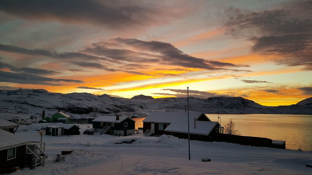 Sunset Reflection Sea Dramatic Sky Mountain No People Outdoors Water Scenics Cloud - Sky Beauty In Nature Landscape Sky Nature Greenland Frozen Snow Enjoy The New Normal Southgreenland Peacefulplace Winter2016 Cold Temperature KommuneKujalleq Thebiggesticelandintheworld Apieceoftheicesheet