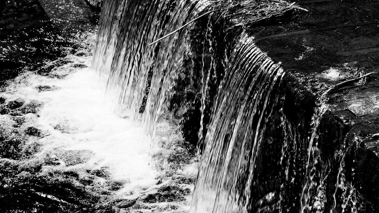 Motion Water Flowing Water Splashing Waterfall Nature Long Exposure Beauty In Nature Power In Nature Flowing Rock - Object Outdoors Blurred Motion Scenics Speed Day No People