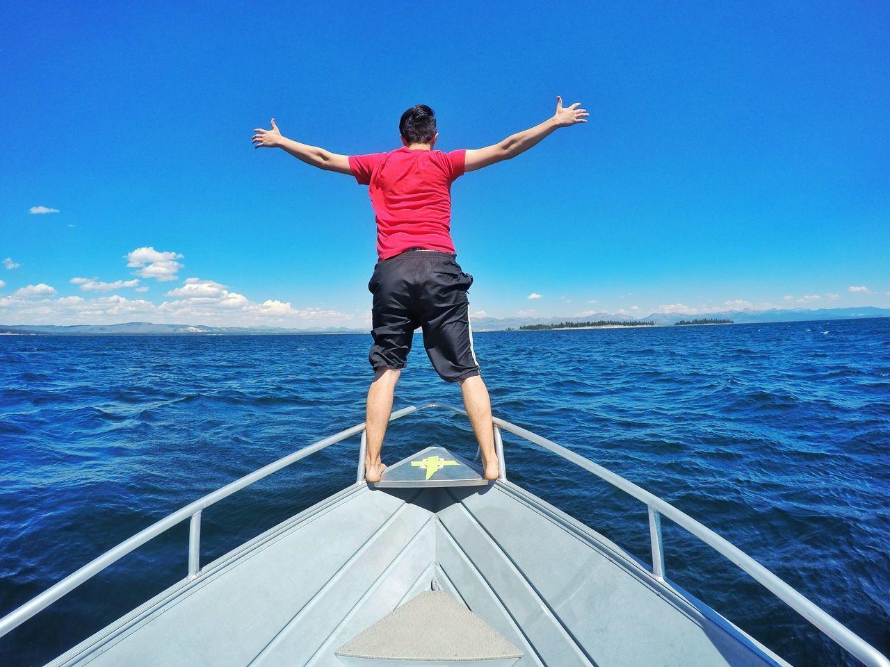 Freedom Lake Yellowstone National Park Yellowstone Lake Boat