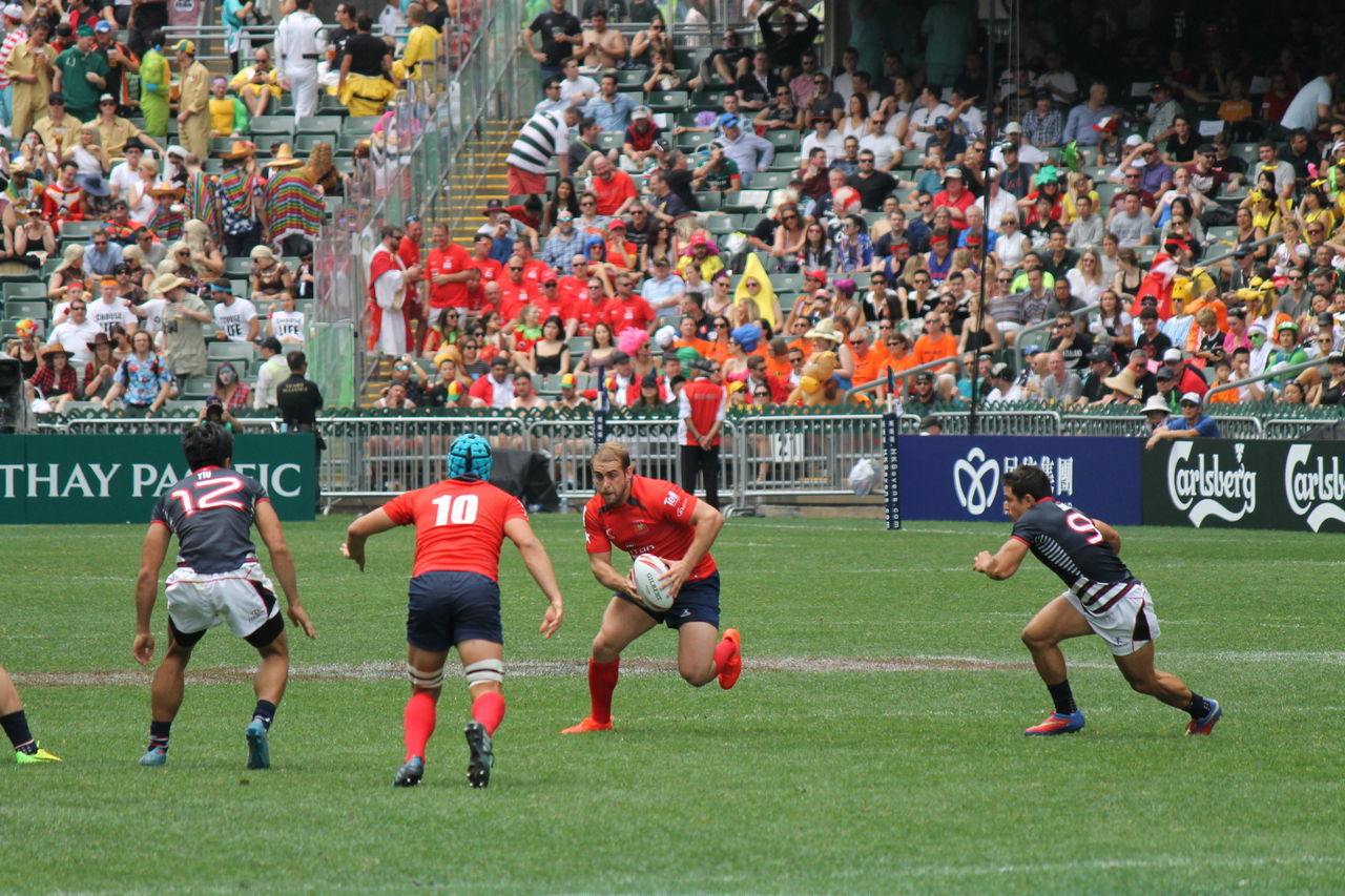 HSBC World Rugby Sevens Series 2017  Athelete Competition Competitive Sport Crowd Day Fan - Enthusiast Full Length Large Group Of People Match - Sport Men Only Men Outdoors People Playing Rugby Rugby See Run Running Spectator Sport Sports Team Sports Uniform Sportsman Stadium Togetherness