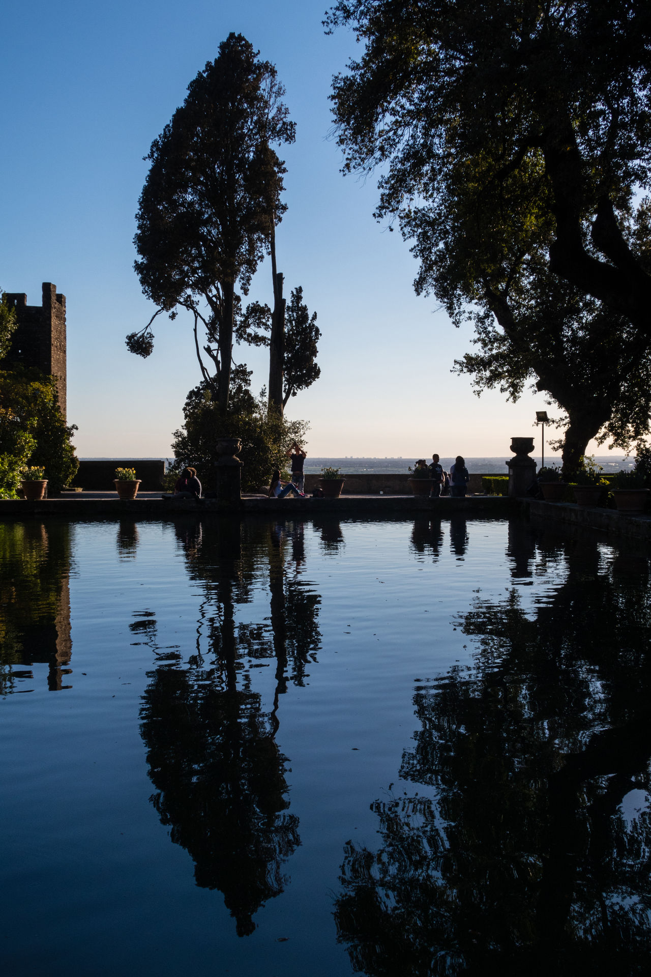 Architecture Beauty In Nature Built Structure Day Fountain Growth Historical Building Nature Outdoors Real People Reflection Silhouette Sky Sunset Tourism Tourist Attraction  Tranquility Tree Villa D'Este Water World Heritage Site Neighborhood Map