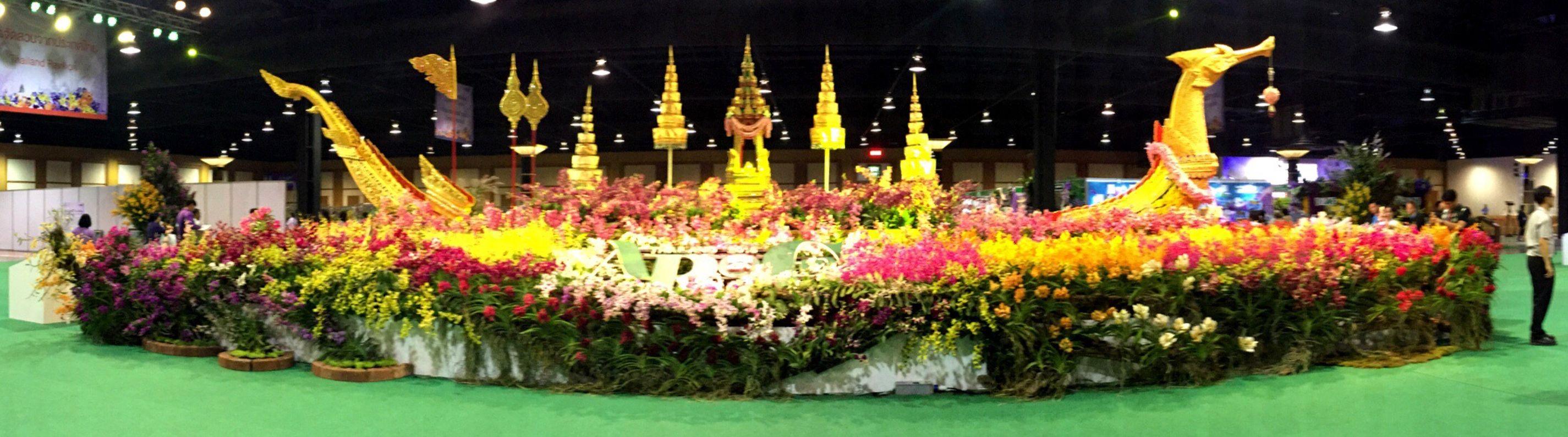 การประชุมวิชาการกล้วยไม้เอเชียแปซิฟิก (Asia Pacific Orchid Conference) เรือสุพรรณหงส์จำลอง (Royal Barge Suphannahong) Photography Colorful Colors Arragements Boat Barge Orchids Flowers Lights Panorama Panoramic Photography