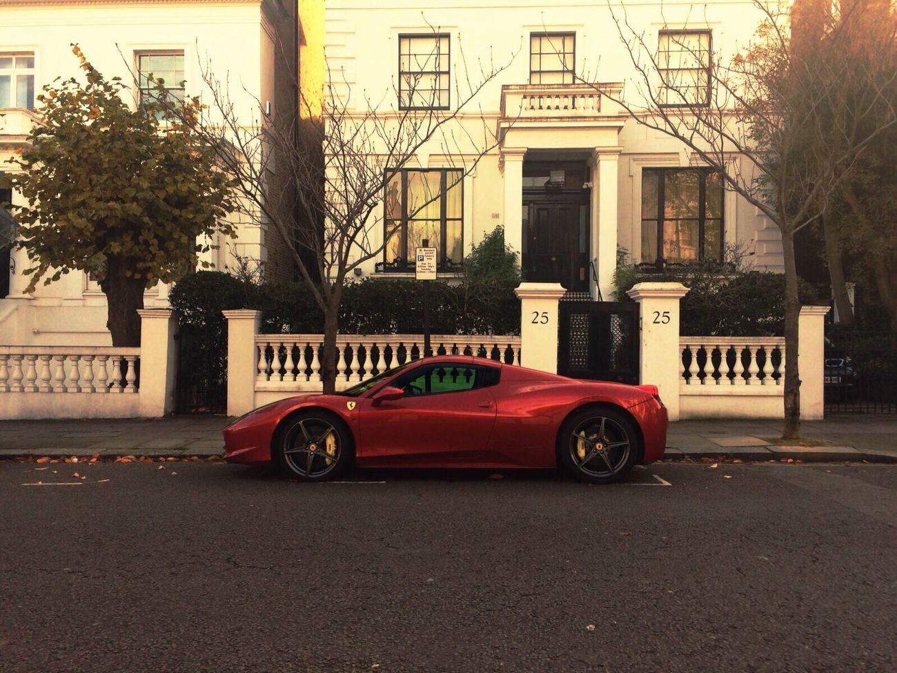 City London Uk Car Ferrari Money Street Cash Goodlife Expensive Supercars Kensington Sunny Millionaire Billionaire  Outdoors Building Exterior Architecture Tree No People Kensington City Great Britain