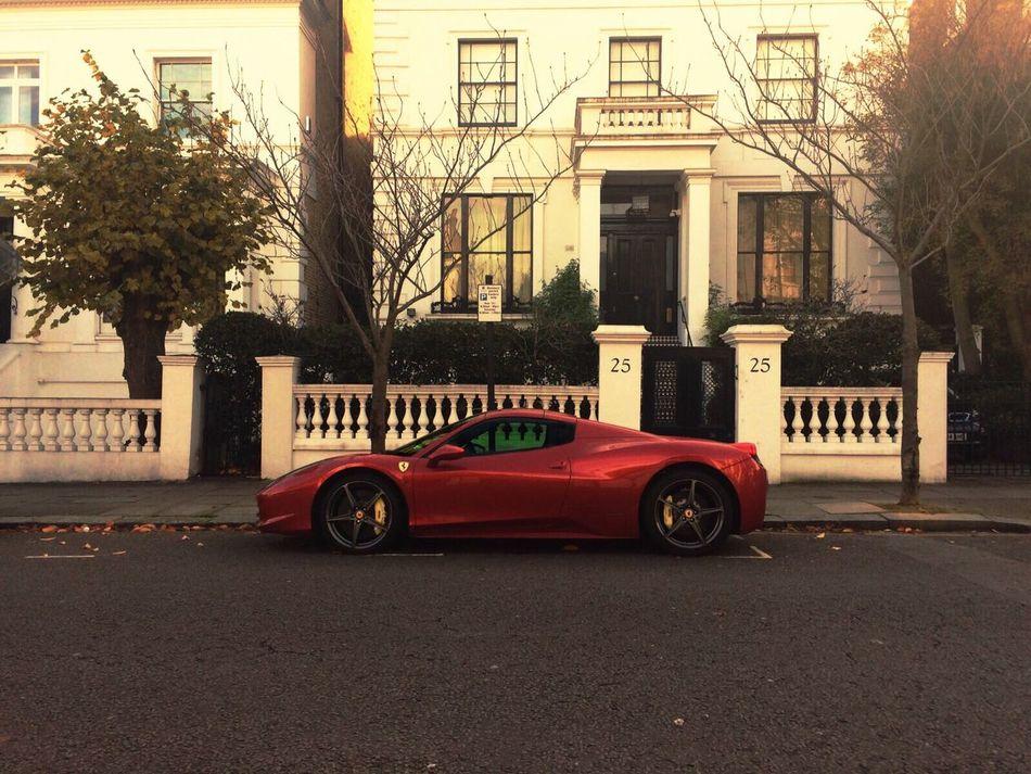 City London Uk Car Ferrari Money Street Cash Goodlife Expensive Supercars Kensington Sunny Millionaire Billionaire  Outdoors Building Exterior Architecture Tree No People Kensington City Great Britain