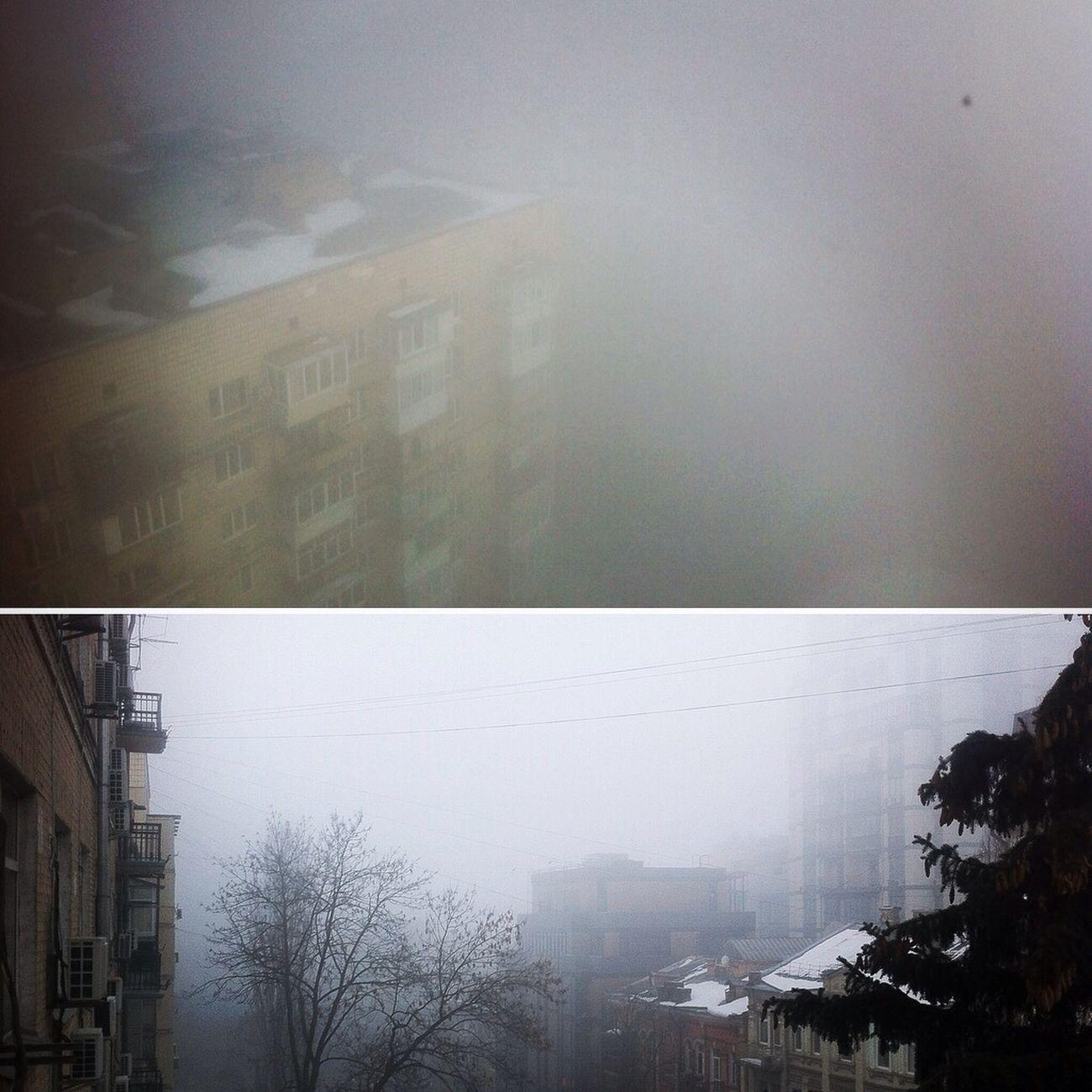 місто ранок туман
