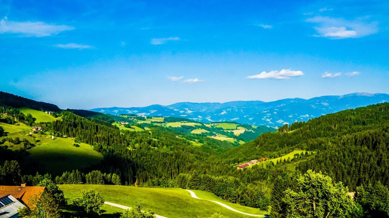 Sony A6000 Mountain Beauty In Nature Tranquil Scene Nature Scenics Mountain Range Landscape Blue No People Green Color Day Outdoors