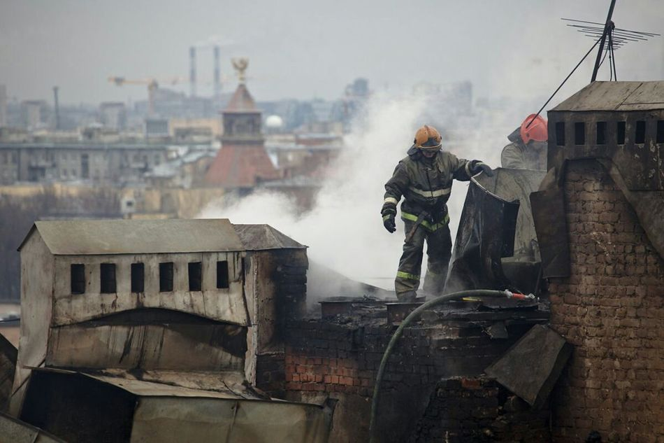 Roof From Russia With Love Firefighter The Street Photographer - 2015 EyeEm Awards Metal Art Smoke do not smoke at home