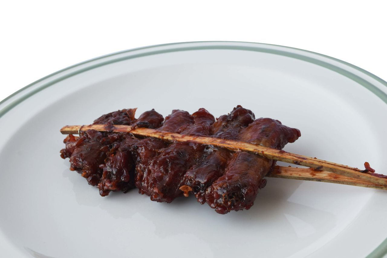 Barbecue Close-up Food Food And Drink Freshness Grilled High Angle View Indoors  Lamb - Meat Meal Meat No People Plate Red Meat SLICE Studio Shot Unhealthy Eating White Background