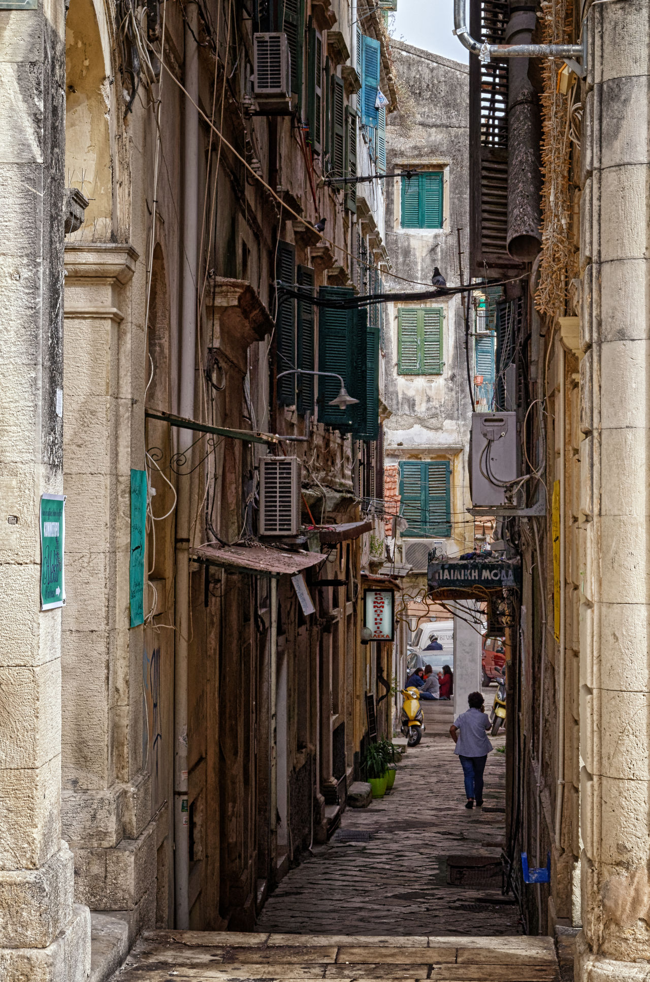 Venetian Alley Alley Architecture Building Exterior Built Structure City Day One Person Outdoors People Real People Residential Building Walking