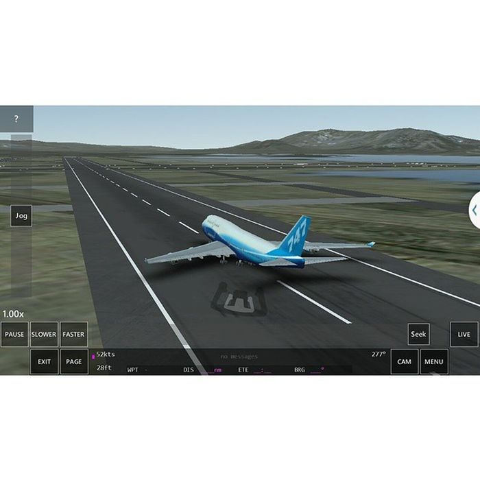 Try to land the airplane on the runway ahead as smoothly as possible Boeing 747-400 Infiniteflightsimulator Replaymode Awesome