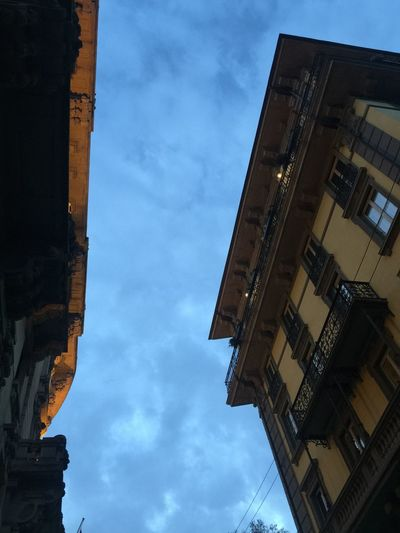 Building Exterior Architecture Built Structure Sky Low Angle View Cloud - Sky Outdoors No People City Day Clock