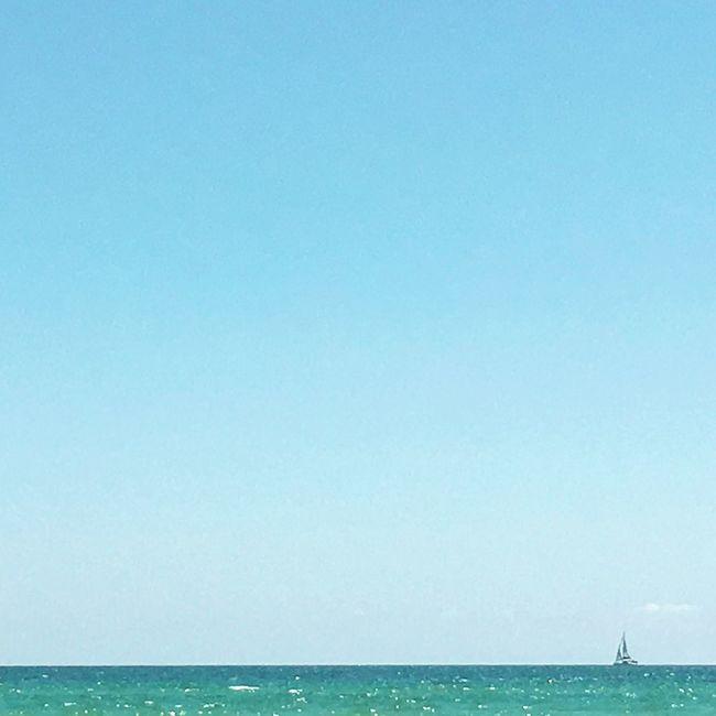 Tiny sailboat. Travel Happy Photography Photography Outdoors Summer Florida Ocean Sea Beach Paradise Goodvibes Nature