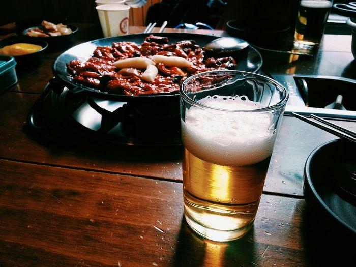 매운 쭈꾸미엔 시원한 병맥주~ Seoul, Korea Korean Food