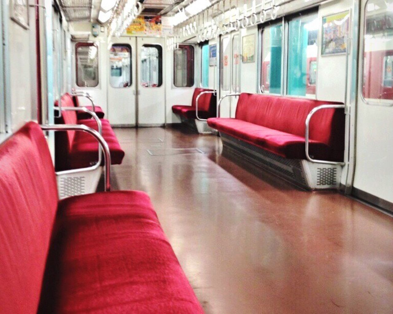 Train - Vehicle Public Transportation Red Vehicle Interior Vehicle Seat Commuter Train Transportation