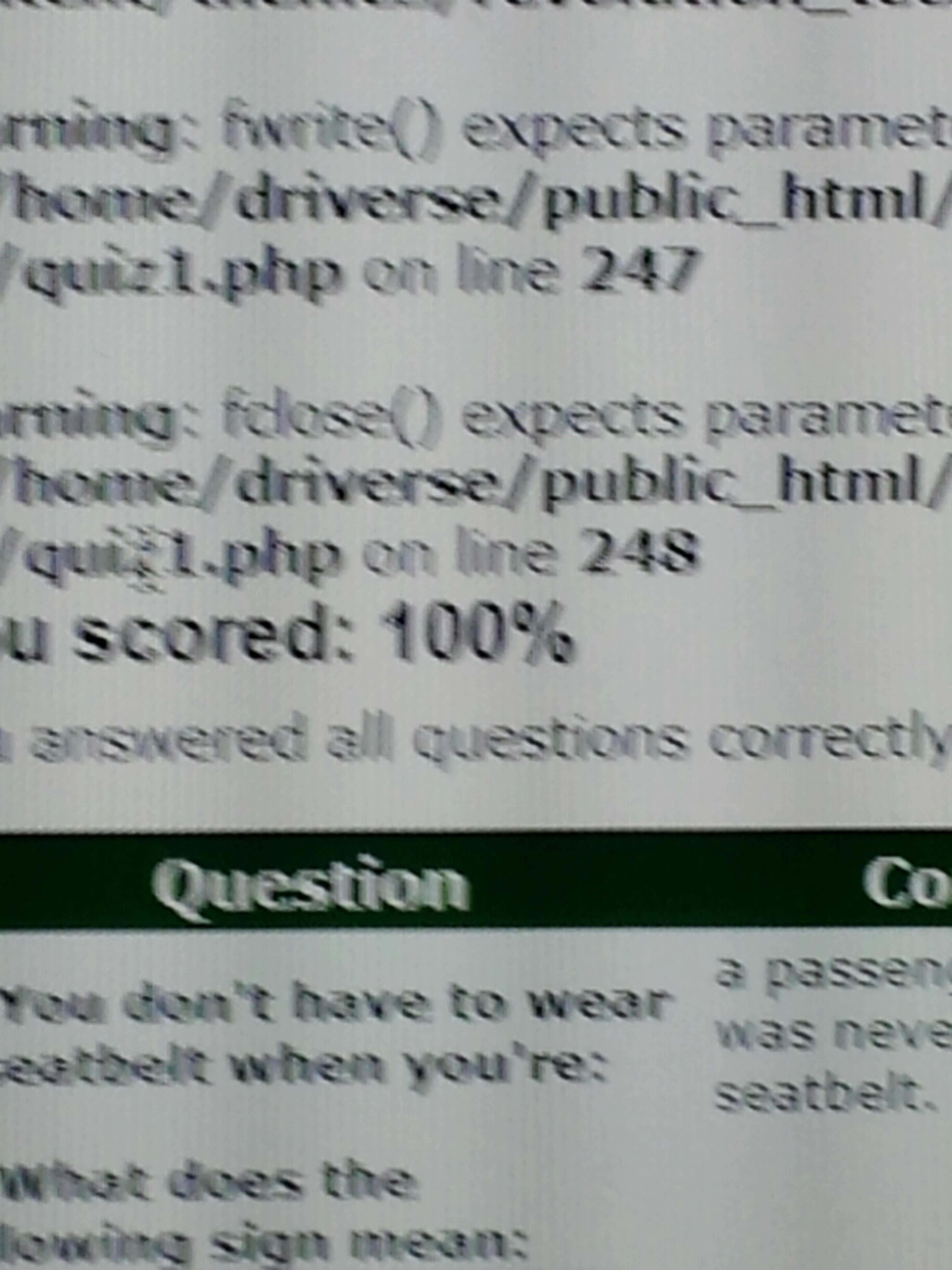 Getting An A On My Permit Test