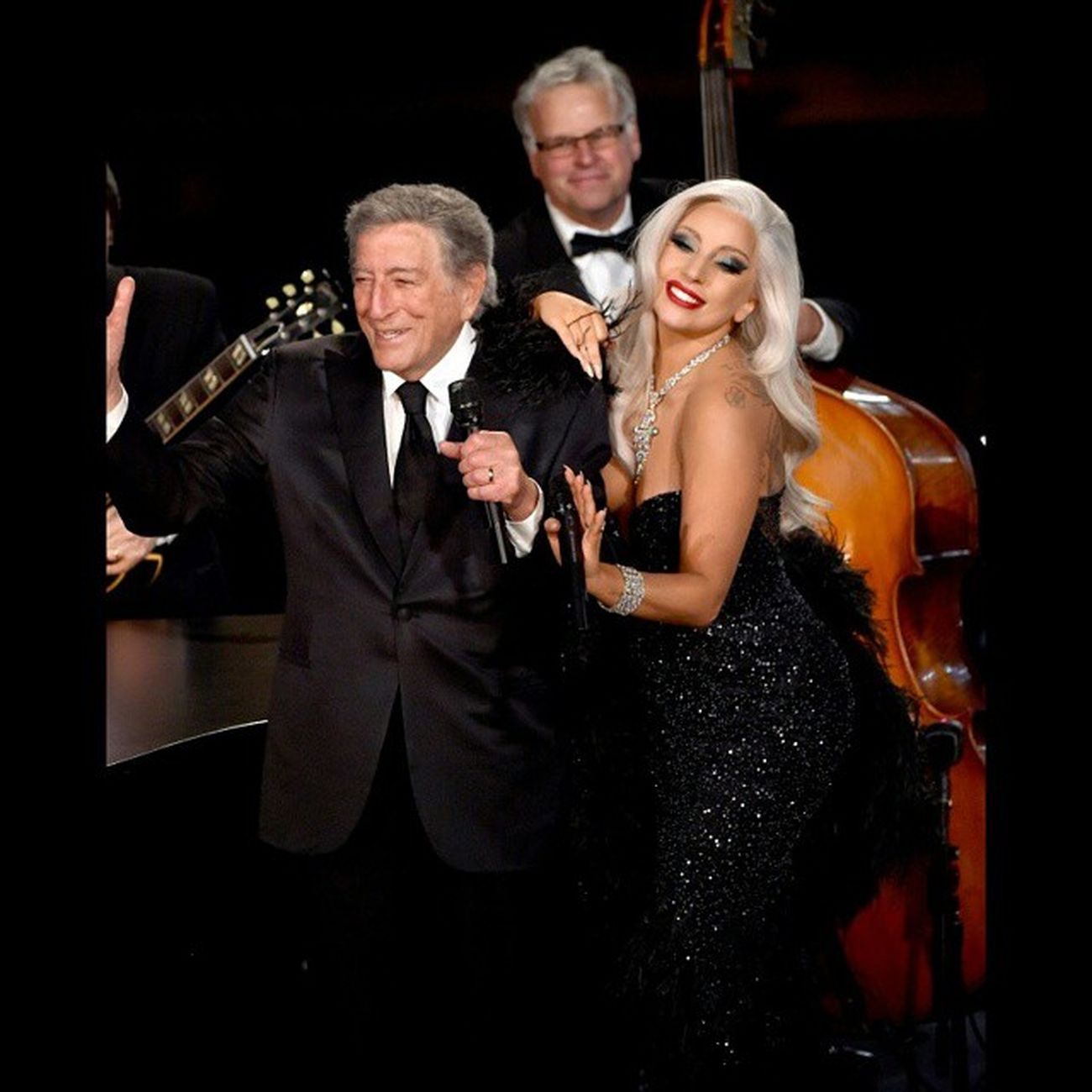 She's Happy so we are Happy! Great Job TonyGaga Cheektocheek is Awesome and I Love it So *----* Littlemonsters Littlemonster Gaga Instafan Music 57Grammys Grammy Hot Tonybennett
