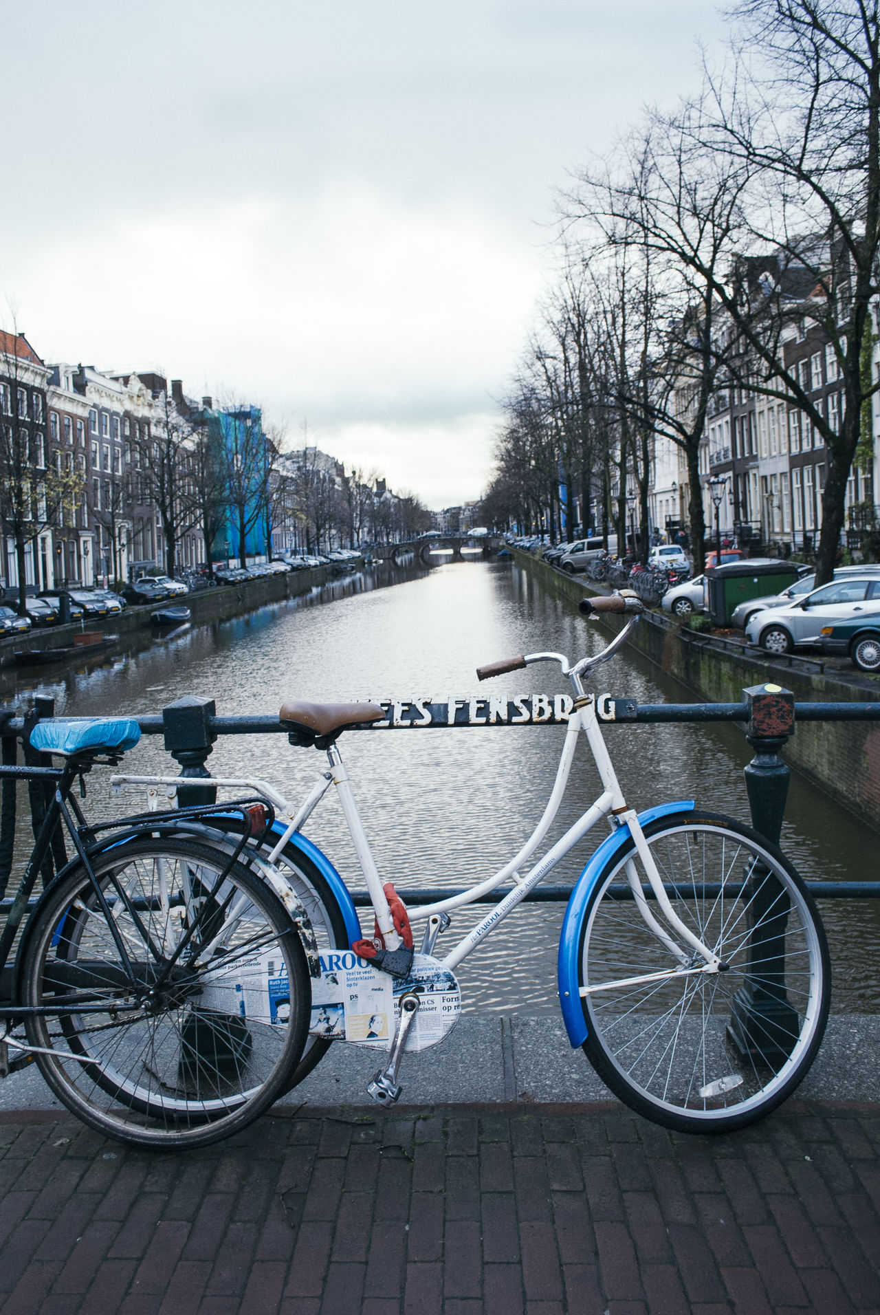 Amsterdam Canal with Bike Amsterdam Amsterdam Canal Architecture Bike Canal City City, Cloud - Sky Day Europe Nature Netherlands No People Sky Travel Destinations Weather