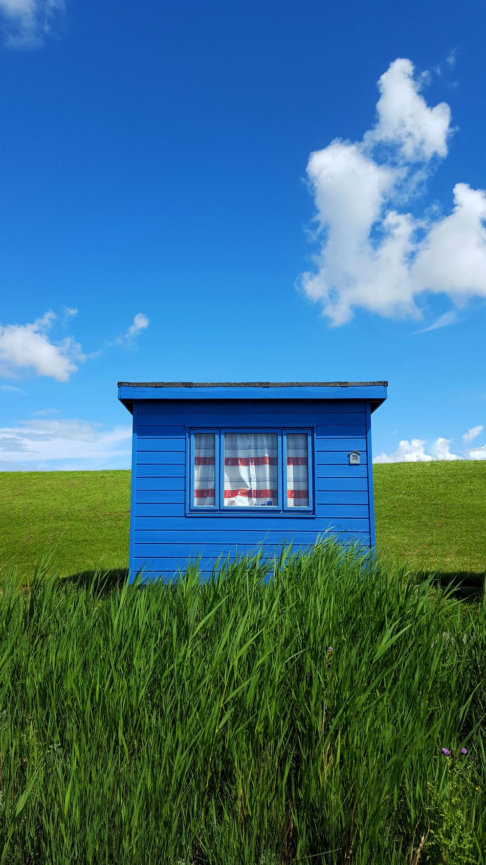Green n blue Cloud - Sky House Grass Sky No People Building Exterior Blue Architecture Outdoors Summer Day Tranquility Clouds Landscape Rural Scene Scenics Nordsee Colourful Green Blue Bluesky Hut Shack Cloudporn EyeEmNewHere